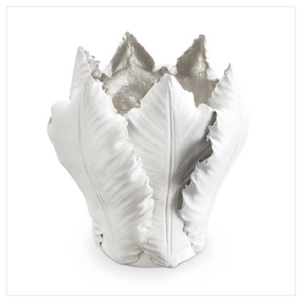 Lysestake Tulip - Hvit og sølv